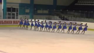 Чемпионат России по синхронному катанию  КМС  ПП 12 Кристалл Айс МОС
