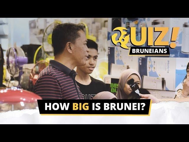 #QuizBruneians: How Big Is Brunei?