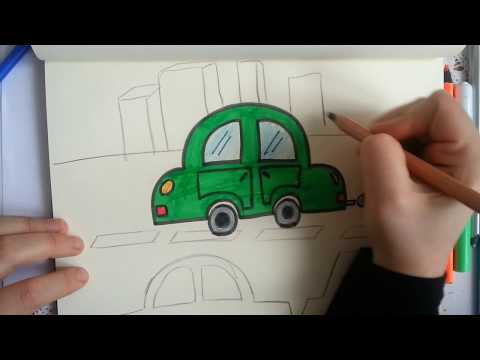 kolay araba çizimi / How to drawing a car?