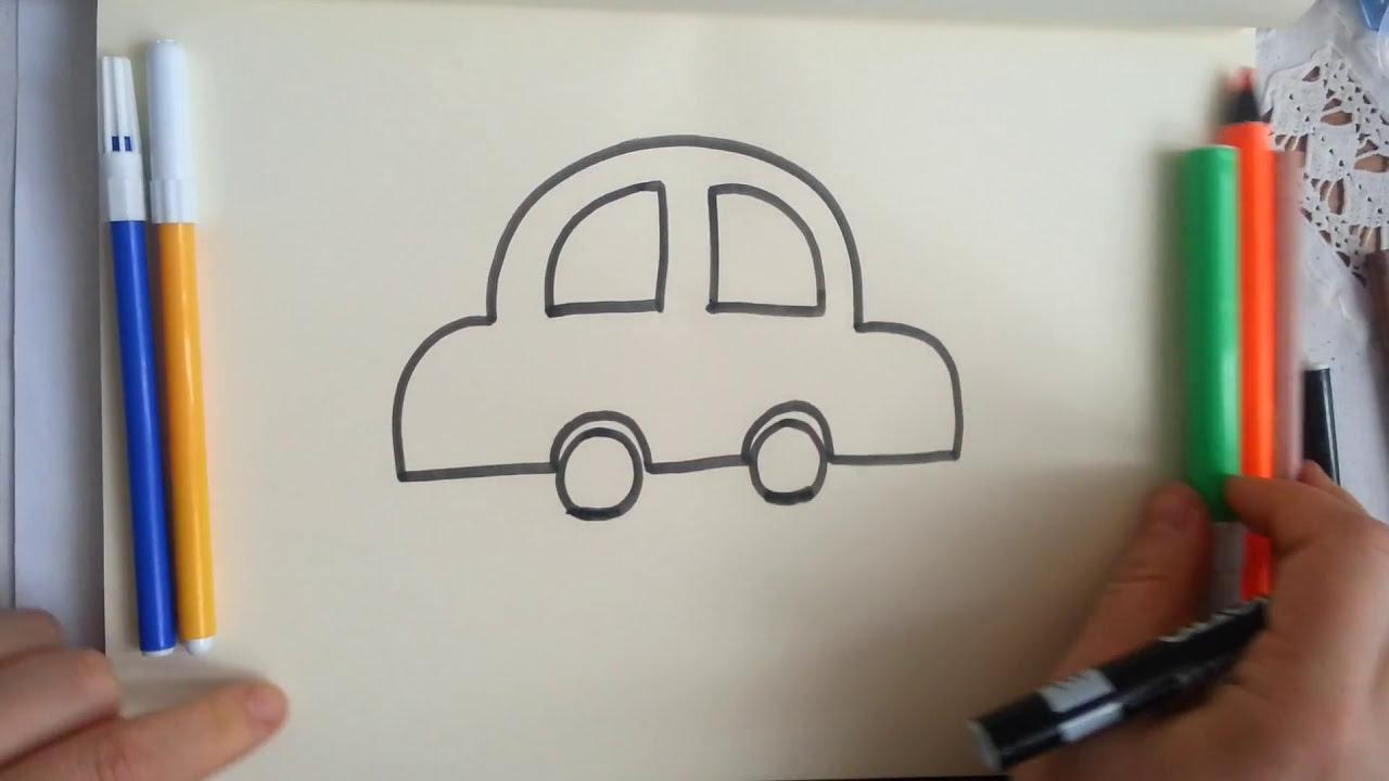Kolay Araba çizimi How To Drawing A Car Sanatın Renkleri