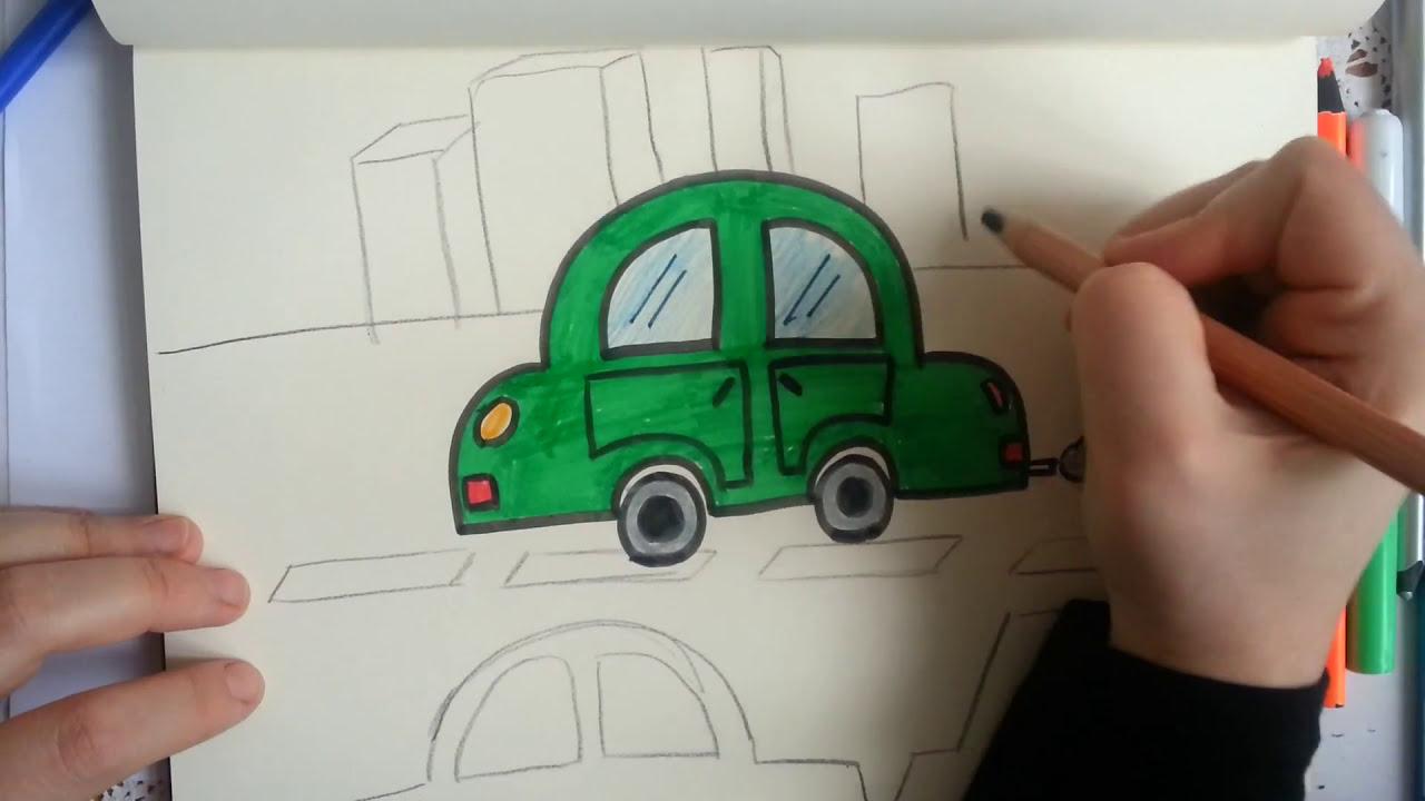 Kolay Araba Cizimi How To Drawing A Car Sanatin Renkleri