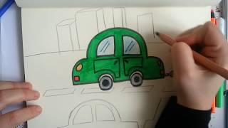 kolay araba çizimi / How to drawing a car?