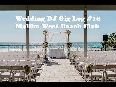 Malibu West Beach Club Wedding DJ Setup Movie