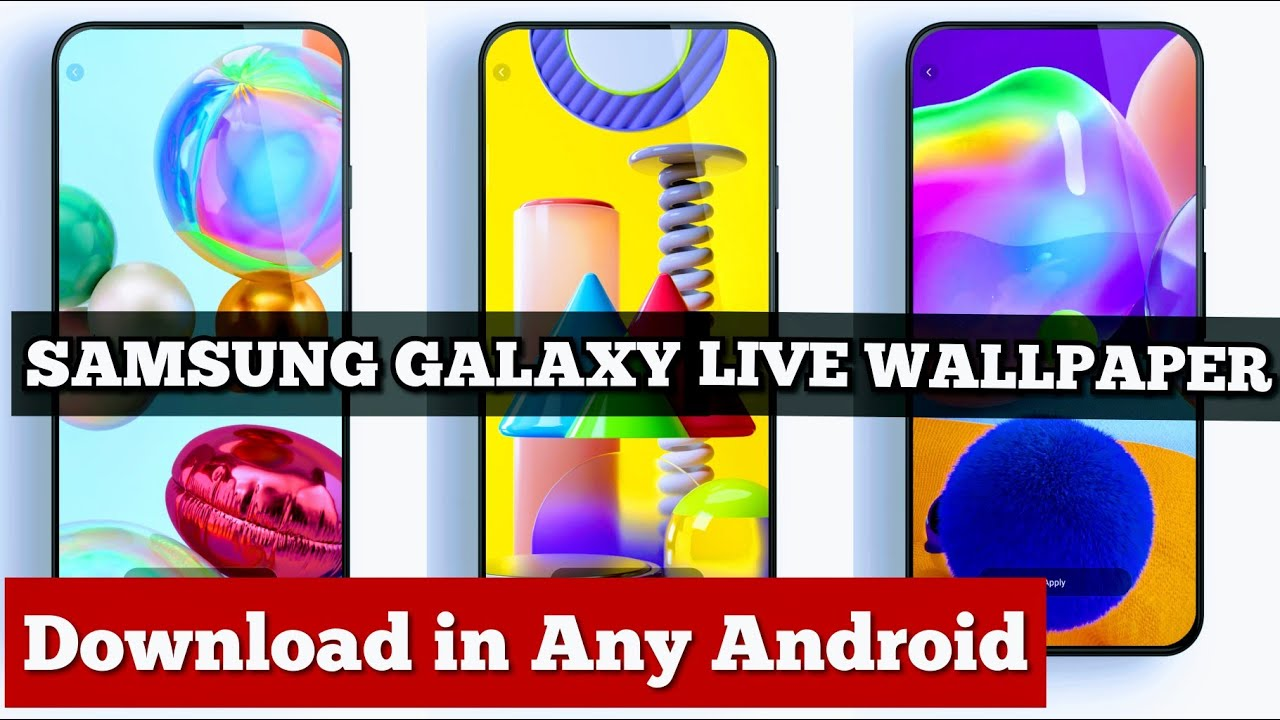 Samsung Galaxy M31s Live Wallpaper Download Samsung Galaxy M31 M31s A31 A71 A90 5g Live Wallpaper Youtube
