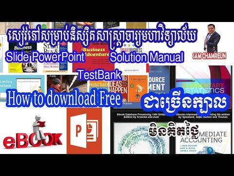 How to download Free Ebook Absolute Free with Solution and Test Bank