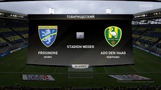 Футбол Frosinone Италия ADO Den Haag Голландия Виртуальный Кубок Полуфинал 1 й матч FIFA