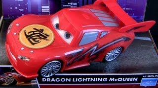 Cars Toons Dragon Lightning McQueen Lights & Sounds Tokyo Mater Light Up Disney Pixar car toys