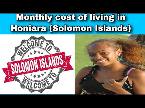 Monthly cost of living in Honiara (Solomon Islands) || Expense Tv