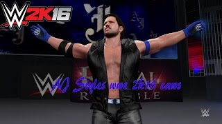 AJ Styles caws wwe 2k16 pc
