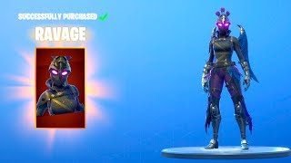 Fortnite *NEW* RAVAGE SKIN (Female Raven) Before You Buy! Best Back Bling Ever (Item Shop August 25)