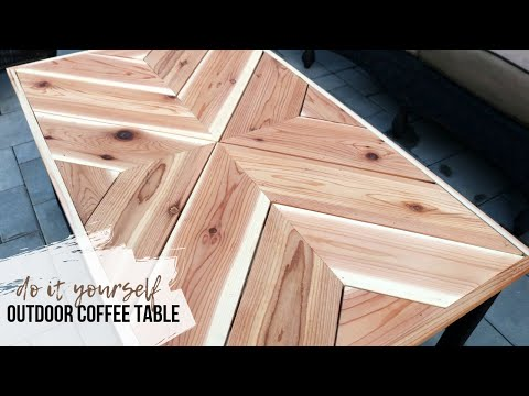 DIY Outdoor Chevron Coffee Table