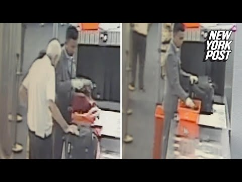 Airport security officer steals cash from elderly man's luggage   New York Post