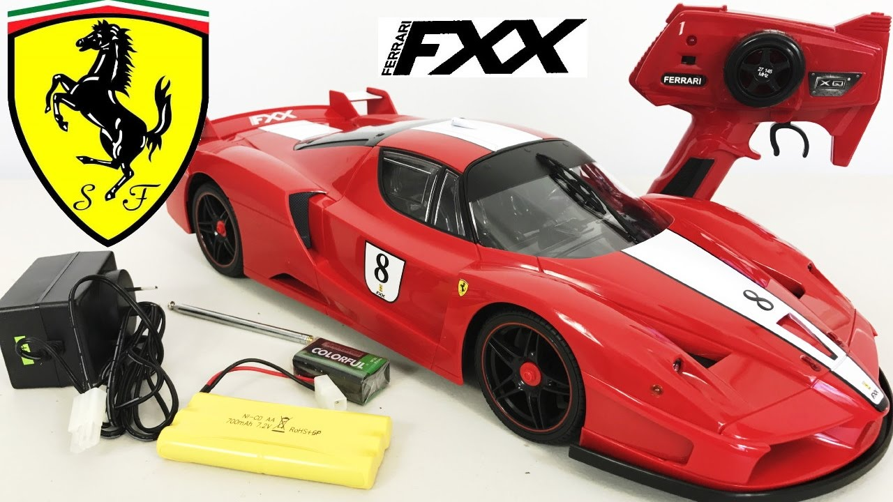 Ferrari FXX RC Remote Control Car Unboxing Toy 1:10 Plus ...