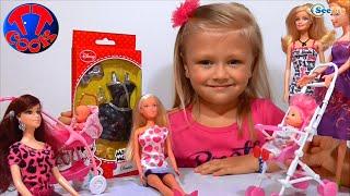 ✔ Кукла Штеффи и девочка Ярослава. Платье для подруги Барби / Steffi Doll. A dress for friend Barbie
