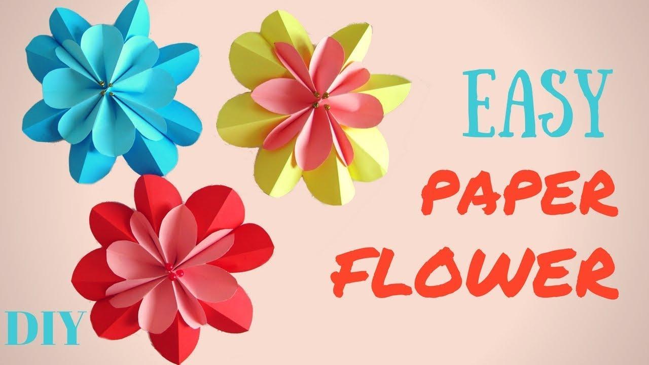 Easy paper flower diy 3d spring flowers hand made youtube easy paper flower diy 3d spring flowers hand made mightylinksfo