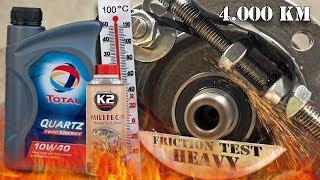 Total Quartz 7000 Energy 10W40 + K2 Militec-1 Test tarcia - przebieg 4.000km 100°C
