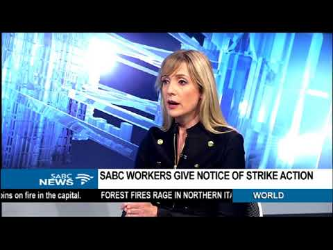 SABC workers give notice of strike action