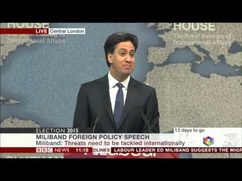 Ed Miliband speech on foreign policy