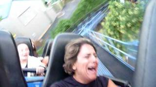 scared lady on hershey park rollercoaster;D