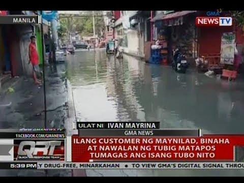 QRT: Ilang customer ng Maynilad, binaha at nawalan ng tubig matapos tumagas ang isang tubo nito