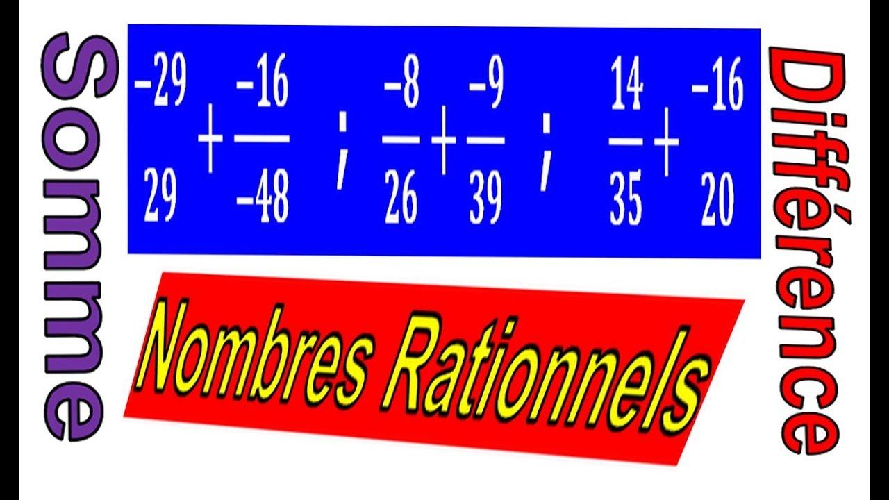Maths 3ème - Les nombres rationnels Addition et ...