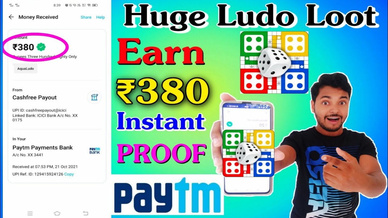 ₹5000 Giveaway 🔥 How To Earn Money By Playing Ludo Game || Earn ₹380 Instant By Playing Aqua Ludo