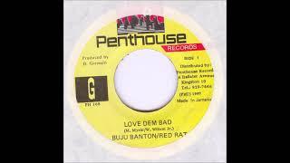 Buju Banton & Red Rat - Love Dem Bad (Vinyl Side B Instrumental) 1997