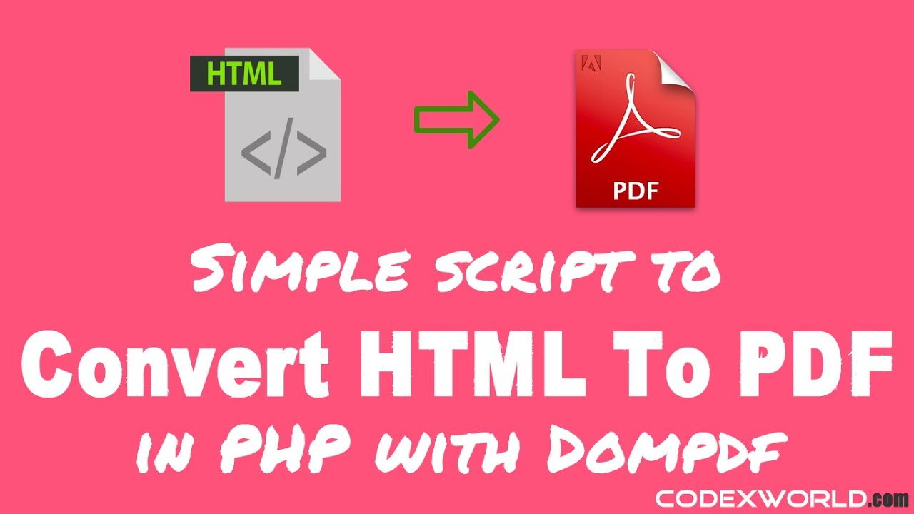 Convert HTML to PDF in PHP with Dompdf