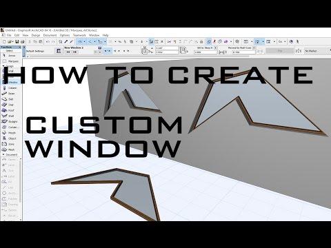 Create custom window in ArchiCAD
