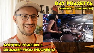 Drum Teacher reacts to Ray Prasetya (Agnezmo  Coke Bottle Live Performance)