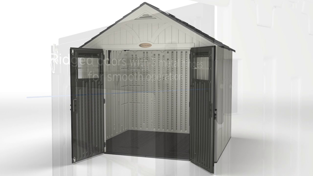 Suncast 8 X 10 Ft Blow Molded Shed Youtube