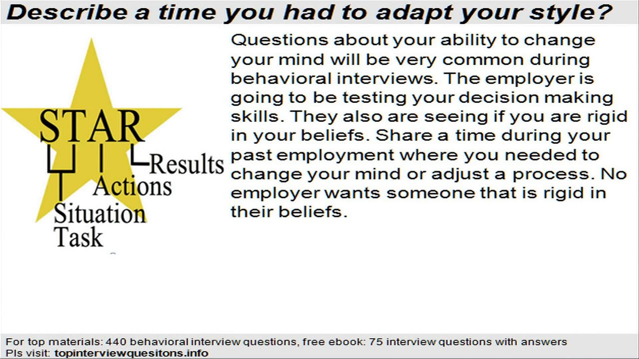 example behavioral interview questions example behavioral interview questions