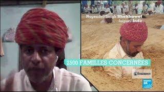 Des fermiers indiens s'enterrent pendant un mois pour ne pas céder leur propriété