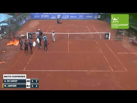 Thumbnail: Court Set Ablaze At ATP Challenger In Casablanca 2016
