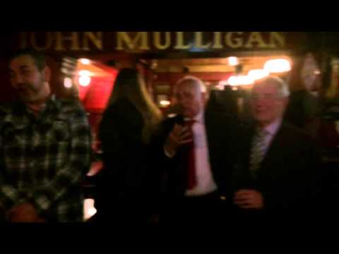 Just marrieds been serenaded in Mulligan's pub, Dublin