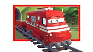 Поезд Трой и Сухие озера в Автомобильный Город | Мультфильм для детей