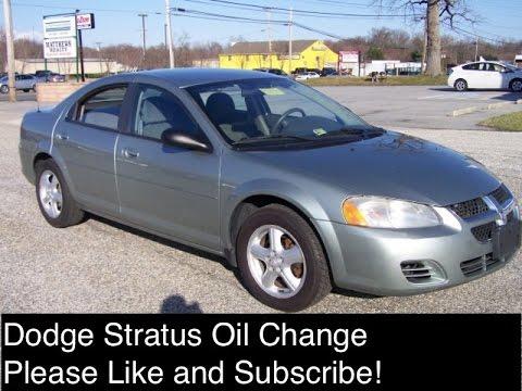 Dodge Stratus Oil Change 2 4 Engine 2001 2006 Chrysler Sebring