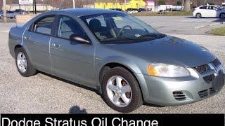 Dodge Stratus Oil Change 2 4 Engine 2001 2006 Chrysler Sebring Oil Change 2 4