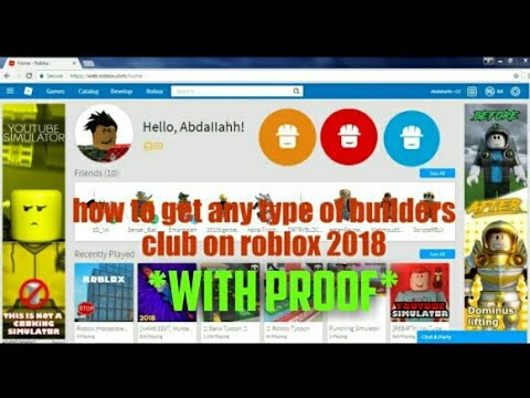How To Get Free Builders Club On Roblox 2019 Youtube
