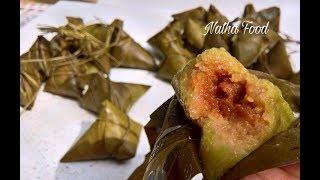 Học gói và nấu bánh ú nước tro đậm đà hương vị quê || Natha Food||