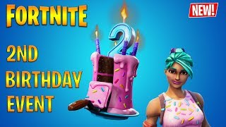 🔴NEW FORTNITE 2 BIRTHDAY EVENT NEW BIRTHDAY SKINS CHALLENGES 🔴