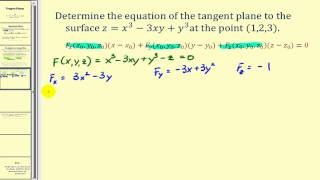 Determining the Equation of a Tangent Plane