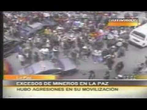 30,000 MINERS TAKE LA PAZ CITY; Day 2