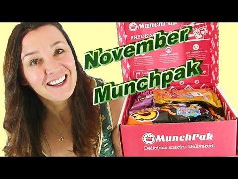 Munchpak Subscription Box Taste Test November