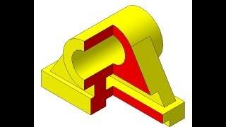 Видеоуроки Компас 3D. Урок 6  Изометрия с вырезом четверти