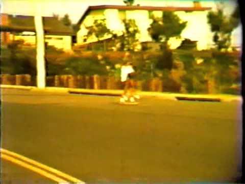 Steve and Barrie Boehne Tandem Skateboarding