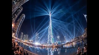 Dubai, Happy New Year 2018 Burj Khalifa | Мировой рекорд лазерное шоу в Дубае