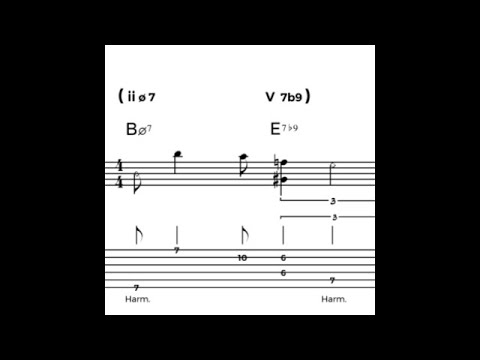 Lick of the Day: a minor II - V idea inspired by Bill Frisell / New York Theme
