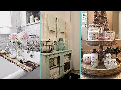 ❤DIY Rustic Shabby chic style Bathroom decor Ideas❤ | Home decor & Interior design| Flamingo Mango|