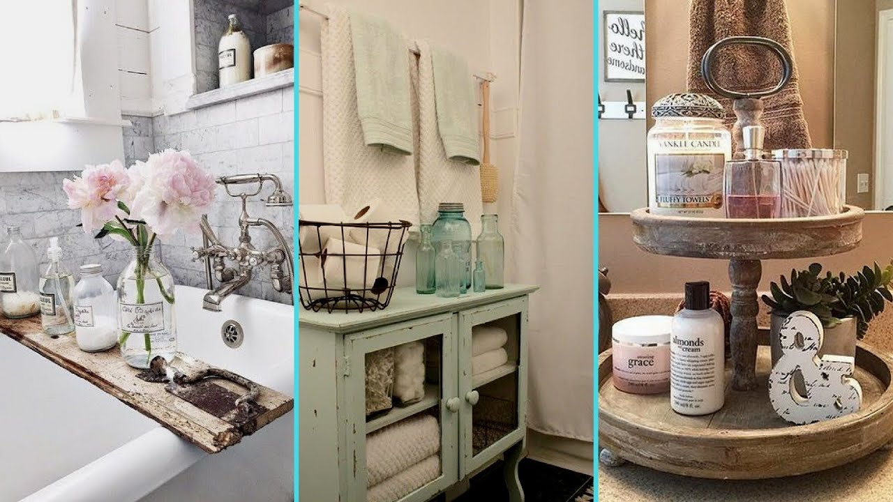 Diy rustic shabby chic style bathroom decor ideas home - Diy bathroom decor ideas ...